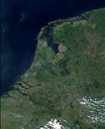Satellite Map of Netherlands